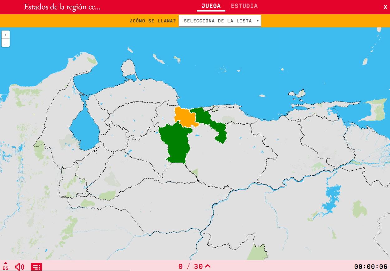 Estados da região centro de Venezuela
