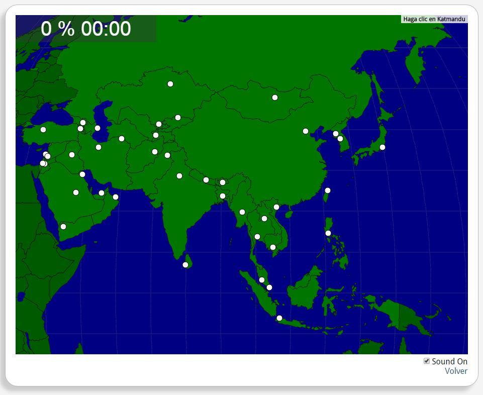 Asie : les capitales. Seterra