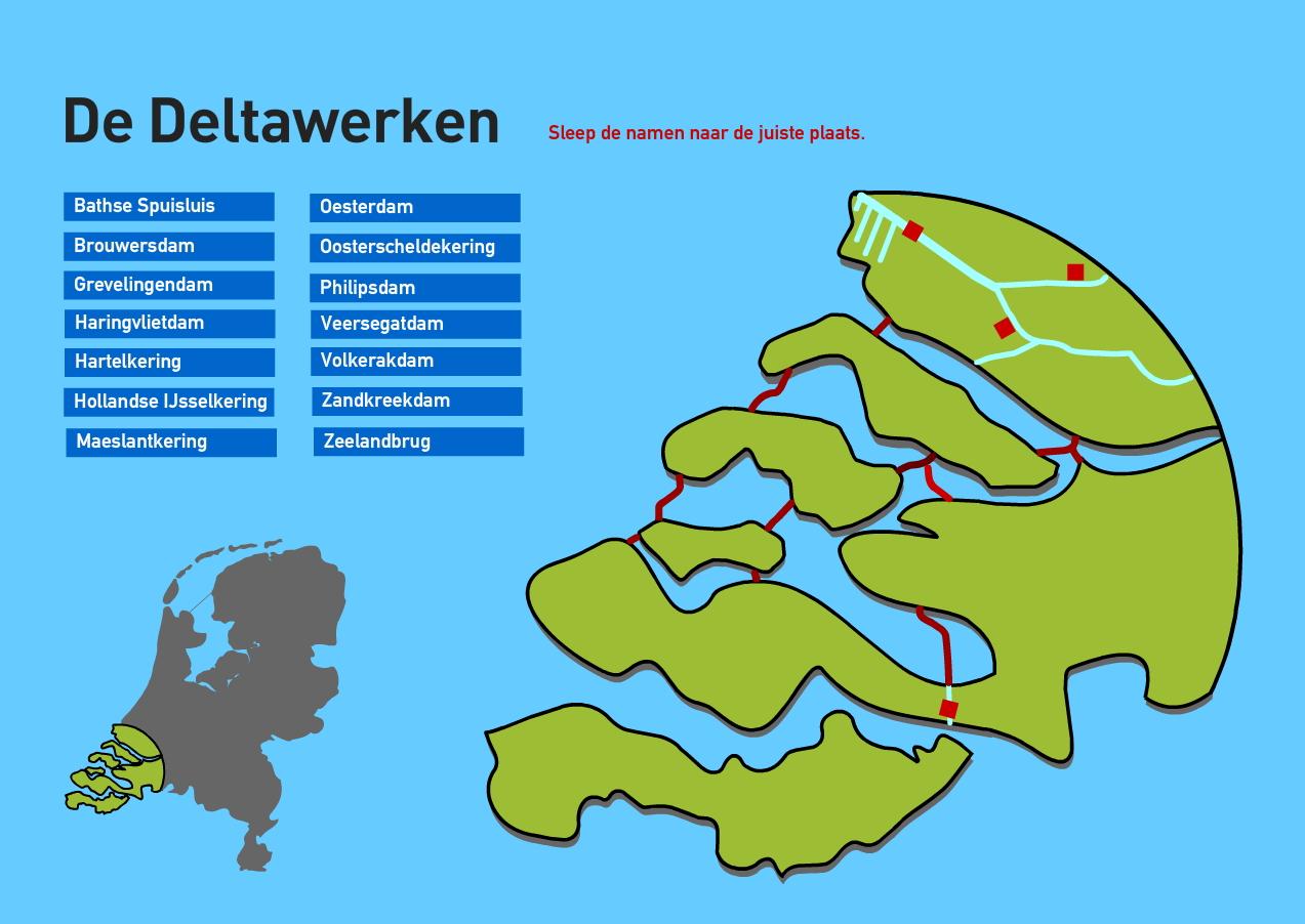 De Deltawerken. Topografie van Nederland