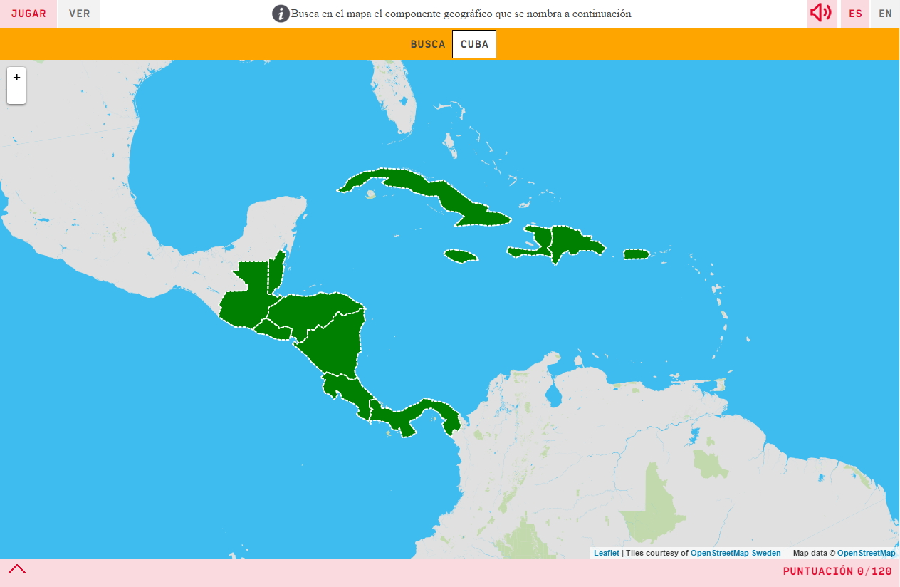 Interactive map. Where is it? Countries of Central America - Mapas ...