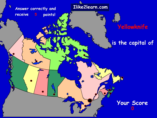 Capitals of Canada provinces. Ilike2learn
