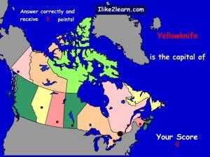 Capitals of Canada provinces. Ilike2learn