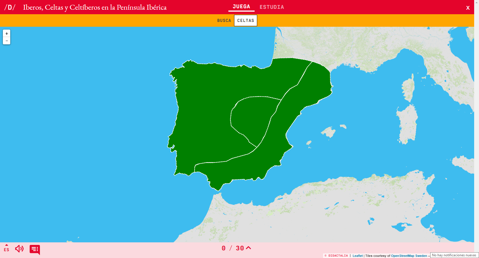 Interactive map. Where is it? Iberians, Celts and ...