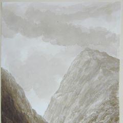 Paisaje montañoso en las cercanías del lago Ness (Escocia)