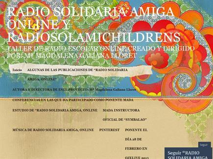 RADIO SOLIDARIA AMIGA ONLINE Y RADIOSOLAMICHILDRENS