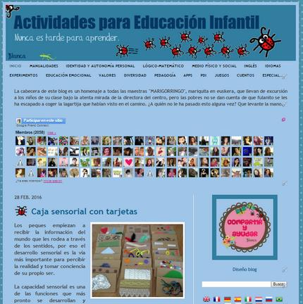 ACTIVIDADES PARA EDUCACIÓN INFANTIL