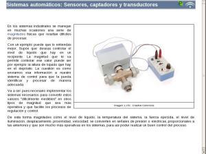 Sistemas automáticos: Sensores, captadores y transductores