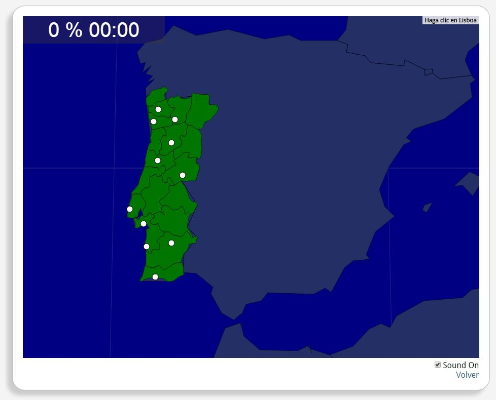 Portugal : les villes. Seterra