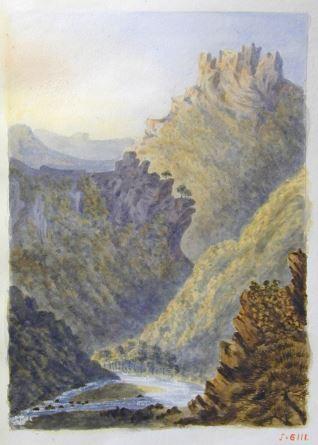 Vista de las montañas de l´Esterel (Francia)