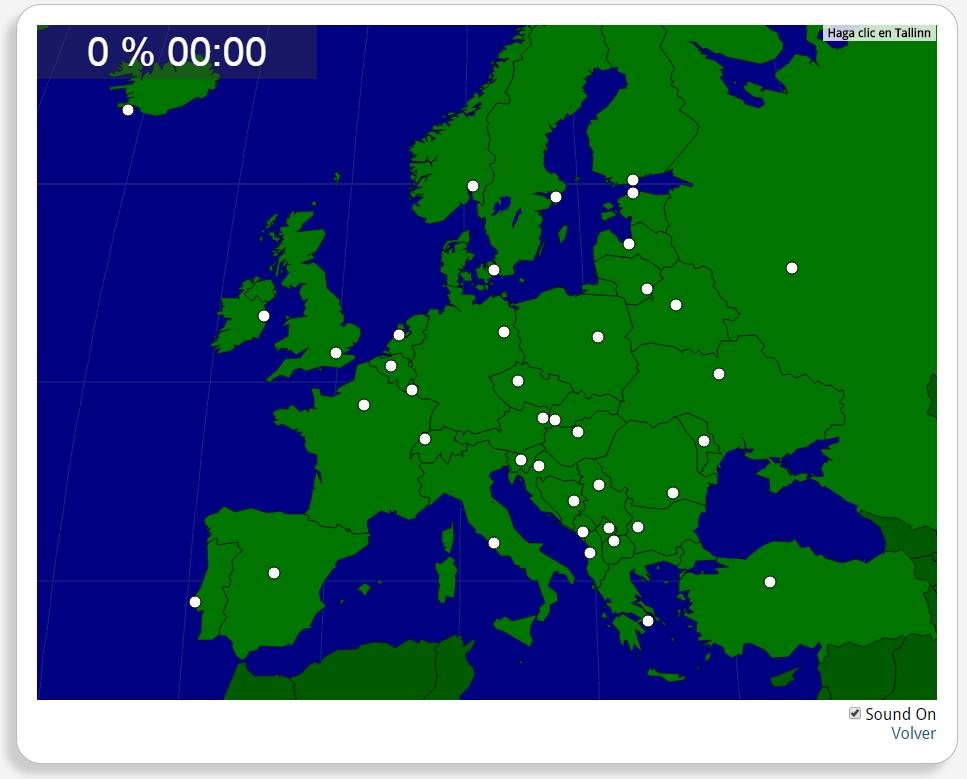 Europe : les capitales. Seterra