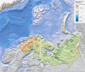Mapa de la región de Barents. Grid-Arendal