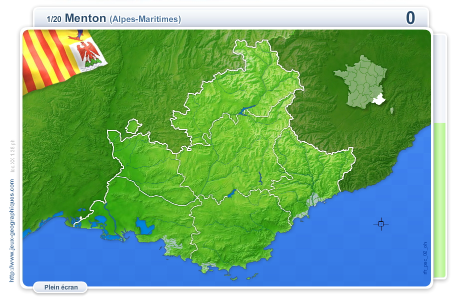 Villes de Provence-Alpes-Côte d'Azur. Jeux géographiques