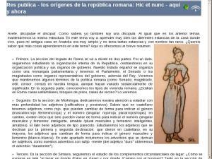Los orígenes de Roma: Hic et nunc. Los orígenes: la República