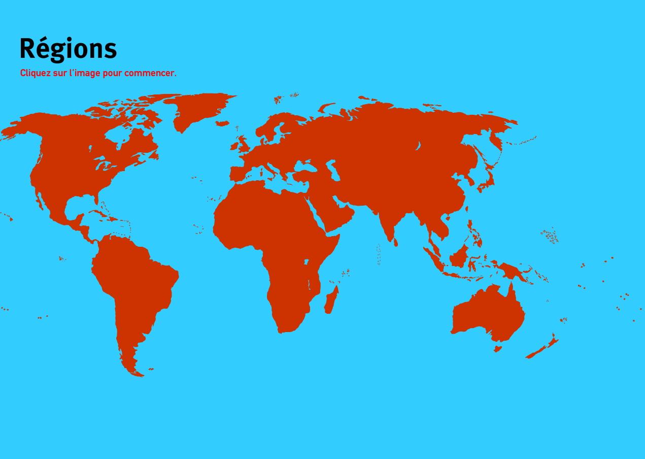 Régions du Monde. Jeux de Géographie