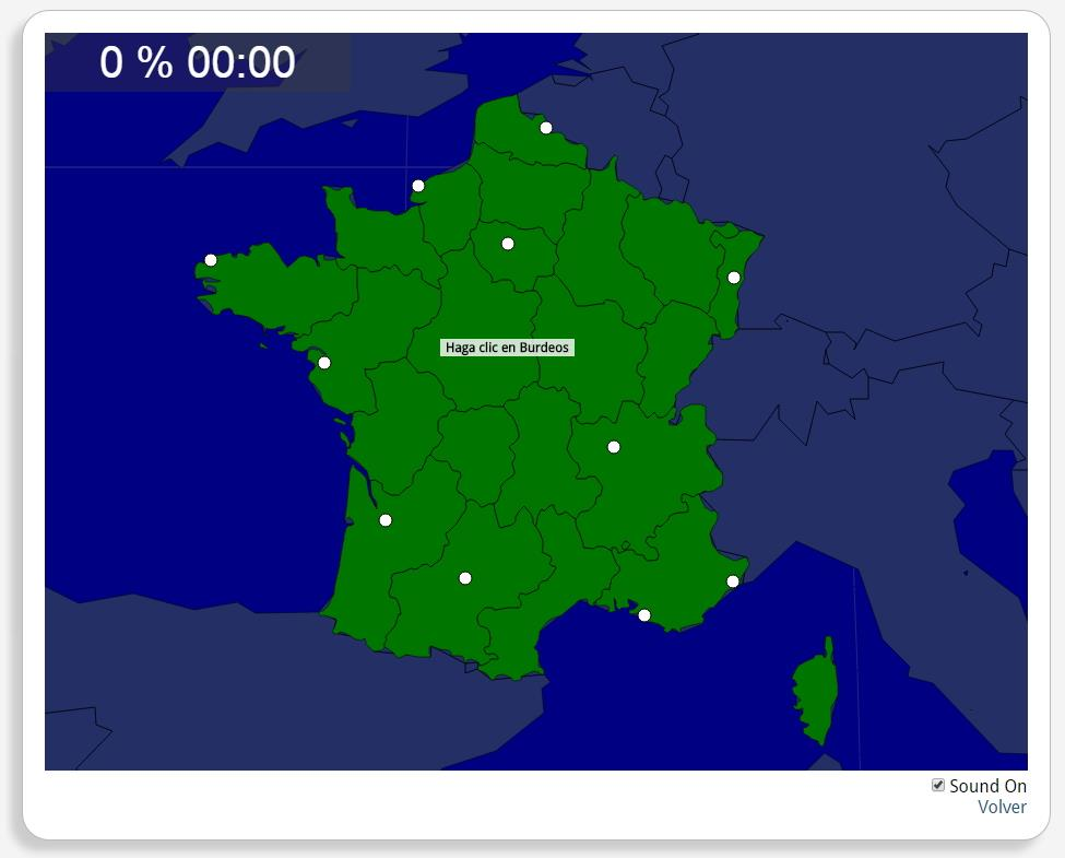 Frankrijk: Steden. Seterra
