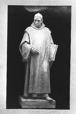 Fotografía de la escultura del Padre Feijoo realizada por el escultor Juan Soler Dalmau