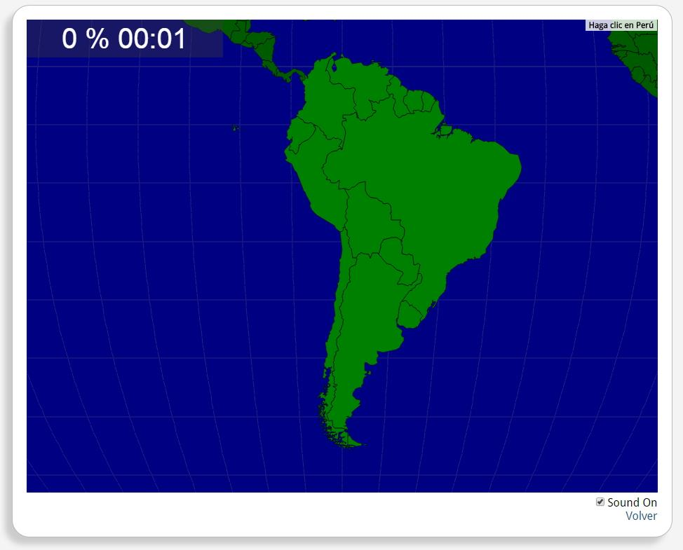 Países de América del Sur. Seterra