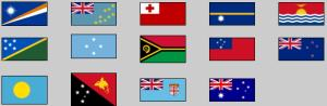 Flags of Oceania. Lizard Point