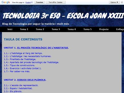 Tecnología 3º ESO Escola Joan XXIII