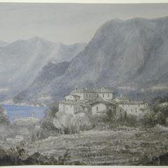 Vista del lago Como desde el Monte Olimpino