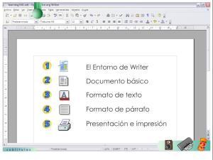 El entorno de Writer
