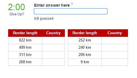 Countries that border Turkey (JetPunk)