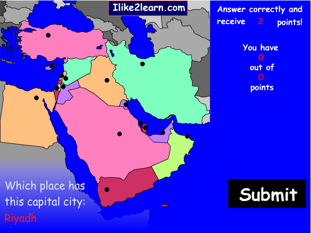 Capitals of Middle East. Ilike2learn