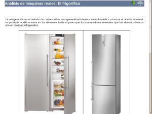 Análisis de máquinas reales: El frigorífico