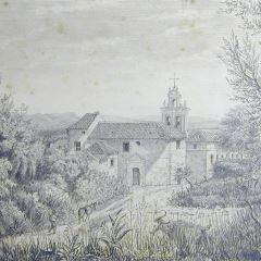 Vista del convento mercedario de Cork (Irlanda)