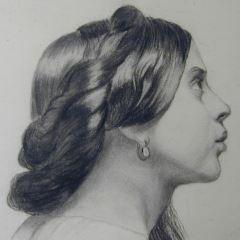 Cabeza femenina. Academia