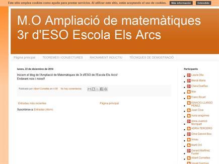 M.O Ampliació de matemàtiques 3r d'ESO Escola Els Arcs