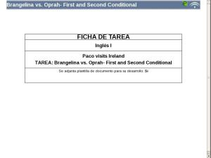Brangelina vs. Oprah- First and Second Conditional