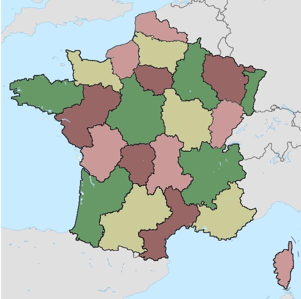 Regions of France. Lizard Point