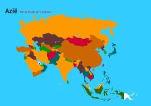 Landen van Azië. Topo Wereld