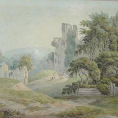 Castillo de Okehampton, Devon (Inglaterra)