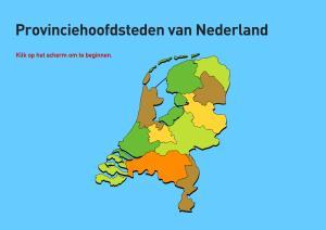 Provincie hoofdsteden van Nederland. Topografie van Nederland