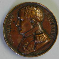 Medalla conmemorativa de la muerte de Napoleón en la islade Santa Elena