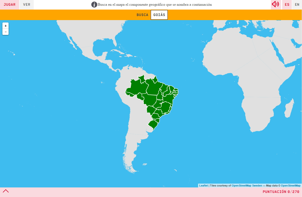 Interactive map. Where is it? States of Brazil - Mapas ...