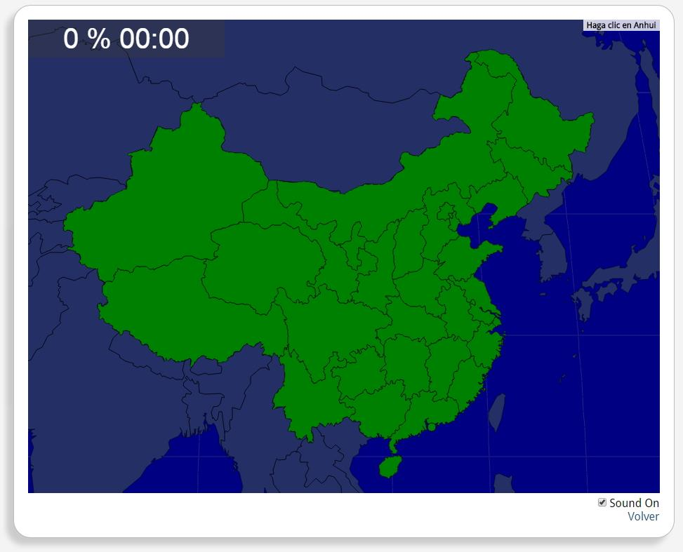 China: Provincias. Seterra