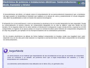 Electrónica de potencia e instalaciones eléctricas: Semiconductores: diodo, transistor y tiristor