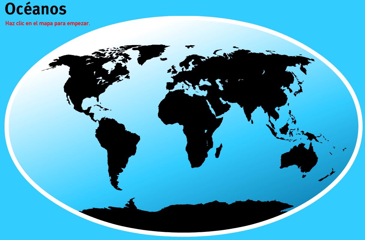 Océanos del Mundo. Juegos de Geografía