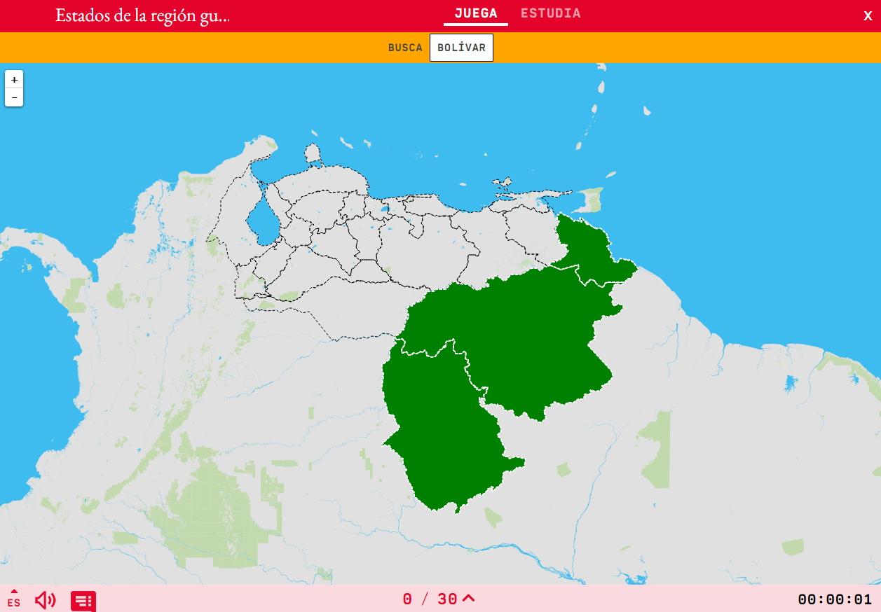 Estados de la región guayana de Venezuela
