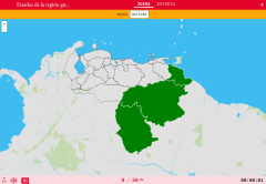 States of the region Guayana of Venezuela