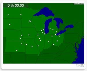 Etats-Unis : les villes du Midwest. Seterra