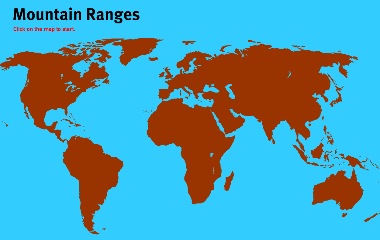 Mountain ranges of the World. World Geography Games
