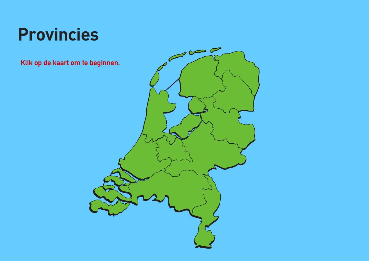 Provincies van Nederland. Topo VMBO