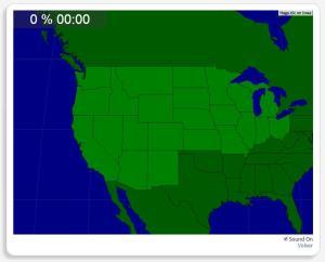 USA: Bundesstaaten im Westen und Mittelwesten. Seterra