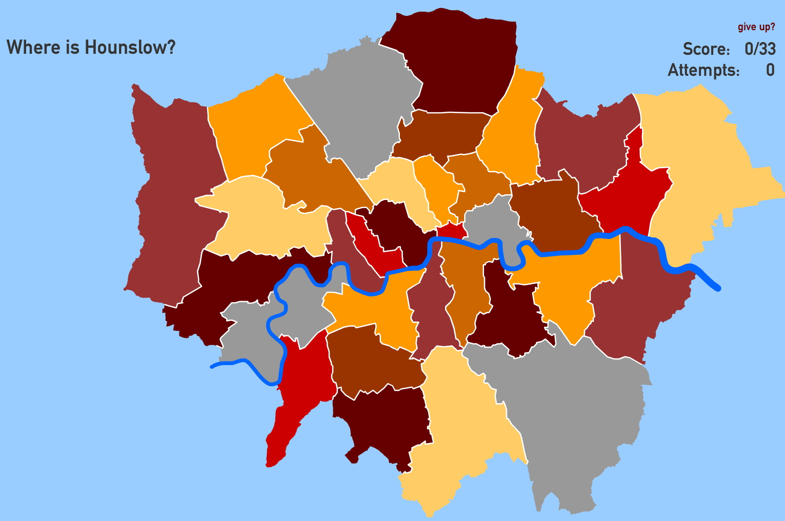 London boroughs. Toporopa