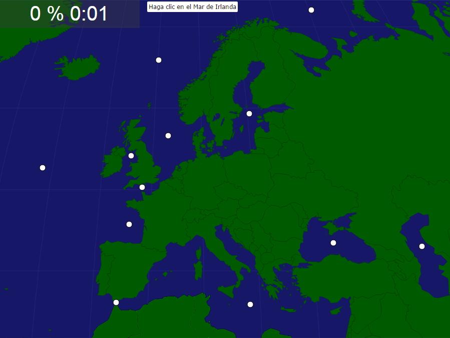 Mares y océanos de Europa. Seterra