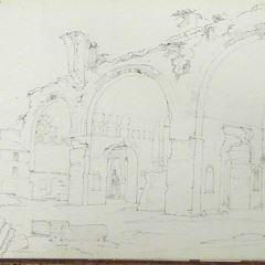 Vista de la Basílica de Majencio en Roma